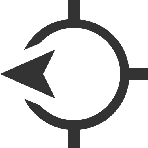 Maps-west-direction-icon